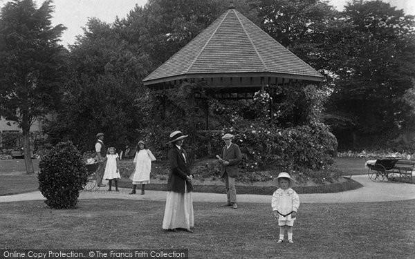 Burnham On Sea, The Bandstand, Manor Gardens 1913