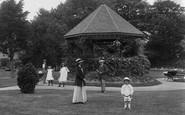 Burnham-on-Sea, The Bandstand, Manor Gardens 1913