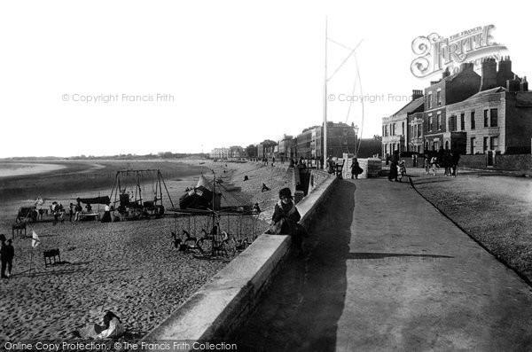 Burnham On Sea, The Beach 1892