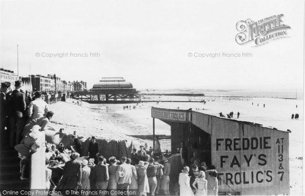 Burnham On Sea, The Beach And Pier c.1939