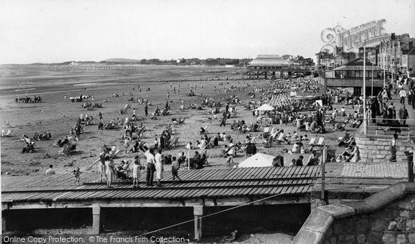 Burnham On Sea, The Beach c.1950