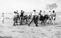 Burnham-on-Sea, The Donkeys c.1955
