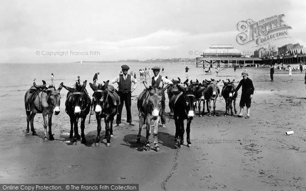 Burnham On Sea, The Donkeys On The Sands 1926