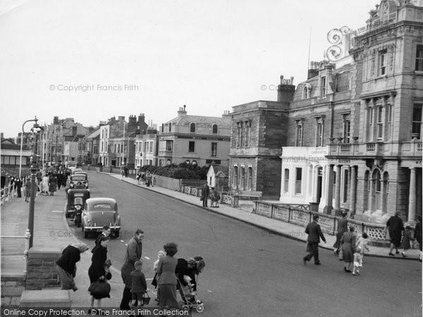 Burnham On Sea, The Esplanade Looking North c.1955