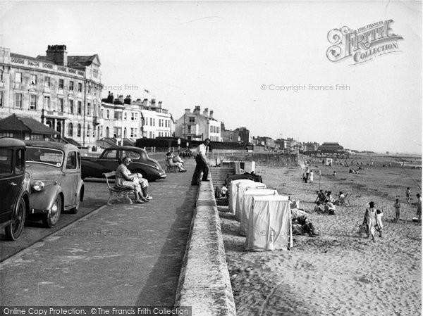 Burnham On Sea, The Esplanade Looking South c.1955