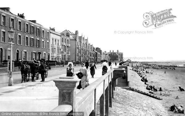 Burnham On Sea, The Promenade And Beach 1913