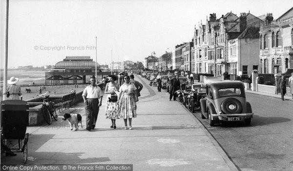 Burnham On Sea, The Promenade c.1955