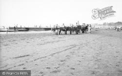 Burnham-on-Sea, The Sands c.1955
