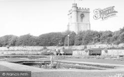 Burnham-on-Sea, The Sunken Gardens c.1955