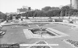 Burnham-on-Sea, The Sunken Gardens, Marine Cove c.1955
