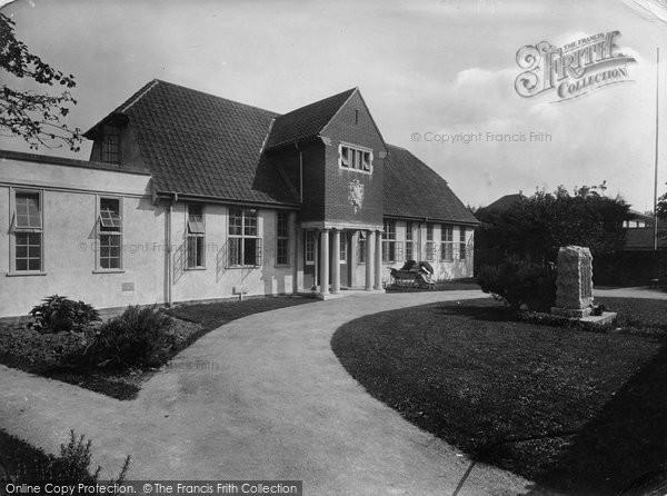 Burnham On Sea, War Memorial Hospital 1926