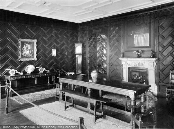 Burnley, The Dining Room, Towneley Hall c.1955