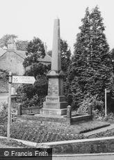 Burnopfield, the War Memorial c1965