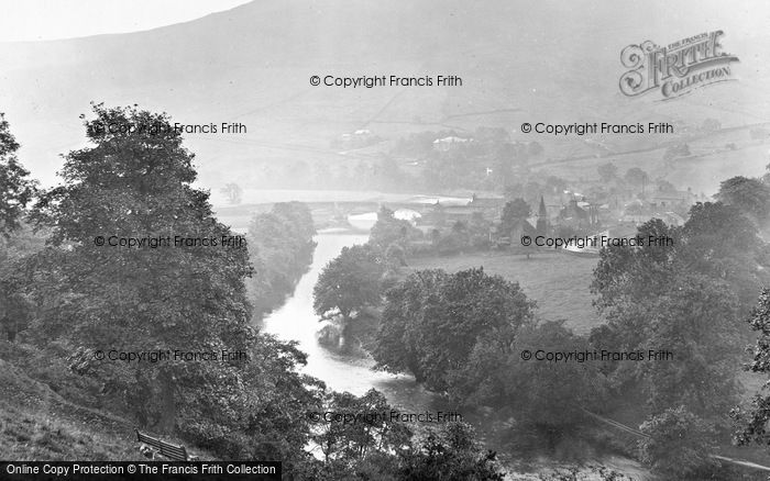Photo of Burnsall, Distant River View 1926