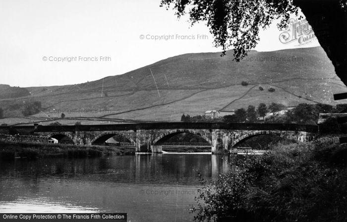 Photo of Burnsall, The Fell And The Bridge c.1955