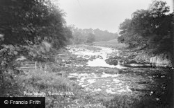 Burnsall, The River Wharfe c.1935
