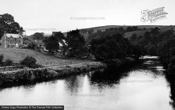 Photo of Burnsall, View From The Bridge c.1955