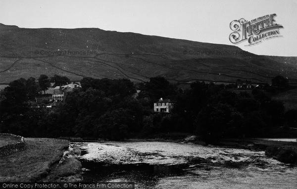 Photo of Burnsall, View From The Bridge c.1955