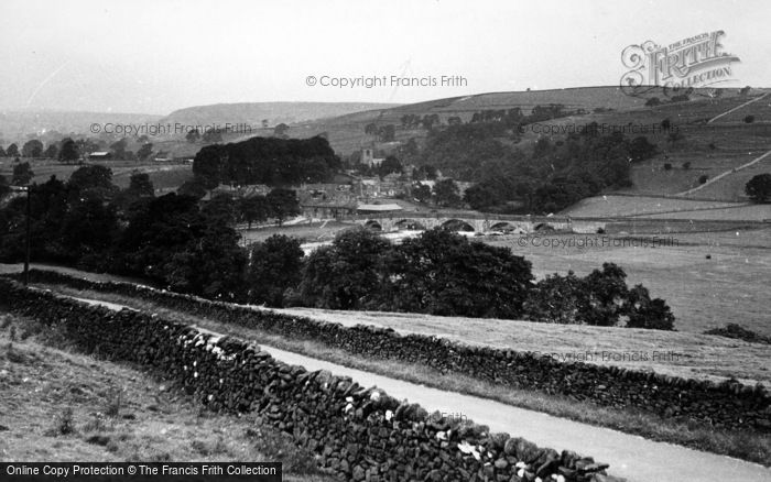 Photo of Burnsall, View From The Fell c.1955