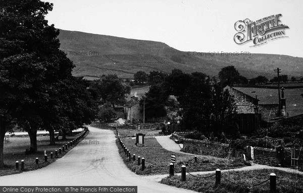 Photo of Burnsall, View From The Red Lion Hotel c.1955