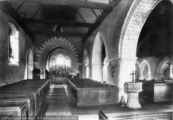 Burpham, Church Interior 1898