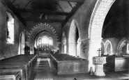 Burpham, Church Interior 1898