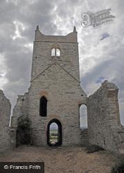 Burrow Mump, St Michael's Ruins c.1995, Burrowbridge