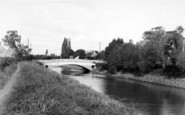 Burrowbridge, The River And Bridge c.1960