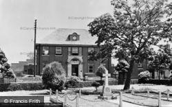 Burry Port, The Memorial Hall And Gardens c.1955