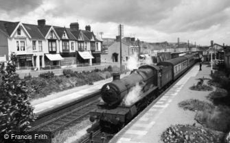 Burry Port, the Station and Station Road c1960