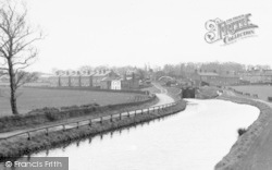 The Canal And Lock c.1950, Burscough