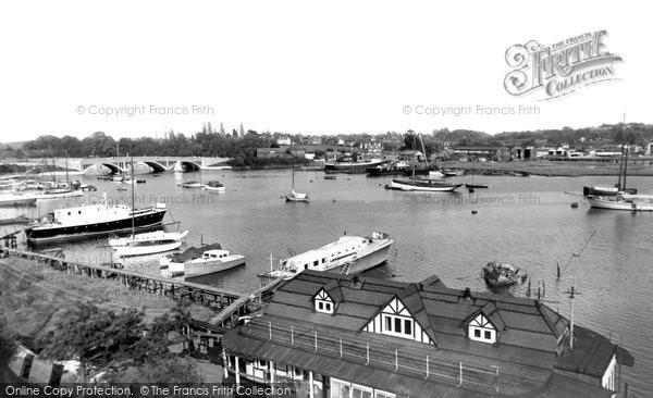 Bursledon, the River Hamble c1955