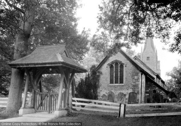 Photo of Burstow, St Bartholomew's Church c1955
