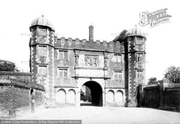 Burton Agnes, the Hall Gateway c1885