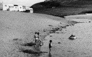 Burton Bradstock, Children Playing, Freshwater Caravan Park c.1960