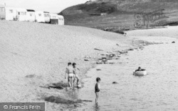 Burton Bradstock, Children Playing, Freshwater Caravan Park c.1960
