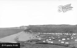 Burton Bradstock, Freshwater Caravan Camp c.1955