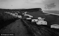 Burton Bradstock, Freshwater Caravan Park c.1955