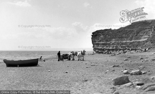 Photo of Burton Bradstock, The Beach 1954