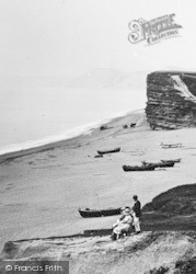 The Beach And Cliffs 1922, Burton Bradstock
