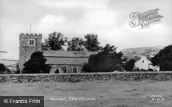 Burton In Kendal, St John's Church c.1955, Burton-In-Kendal