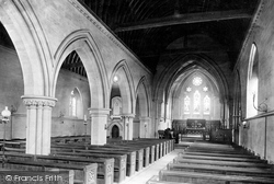 Burton In Lonsdale, All Saints Church Interior 1890