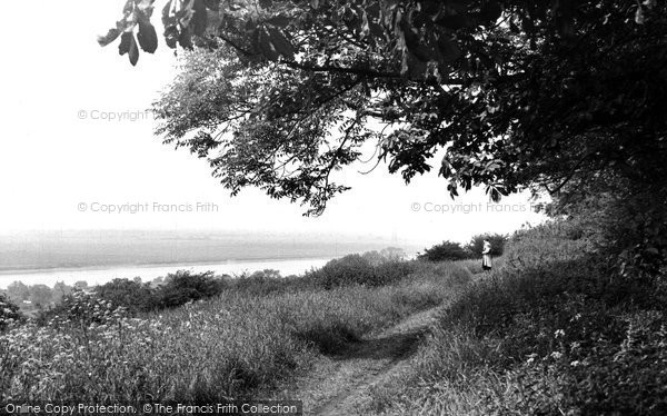 Burton Upon Stather, The River From Burton Hills c.1955