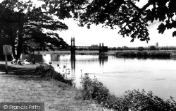 Burton Upon Trent, The River At Stapenhill 1961