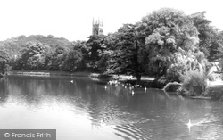 Burton Upon Trent, The River At Stapenhill c.1960