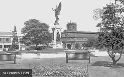 Burton Upon Trent, War Memorial c.1955