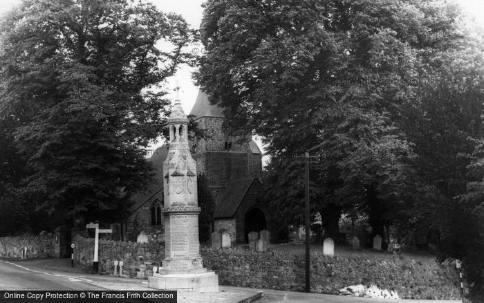 Burwash, St Bartholomew's Church And War Memorial  c.1960