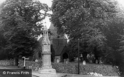 Burwash, St Bartholomew's Church And War Memorial  c.1960