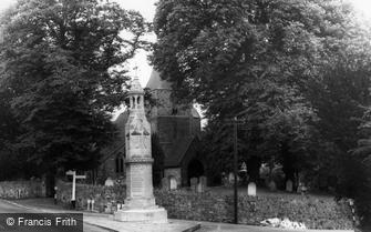 Burwash, St Bartholomew's Church and War Memorial  c1960