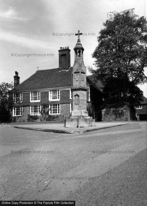 Photo of Burwash, The Memorial c.1960